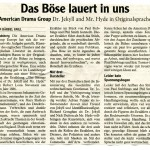 Dr. Jekyll & Mr. Hyde – Landsberger Tagblatt – Deutsch