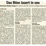 Dr. Jekyll & Mr. Hyde – Landsberger Tagblatt – Deutsch