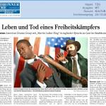 Martin Luther King – Heilbronner Stimme – Deutsch