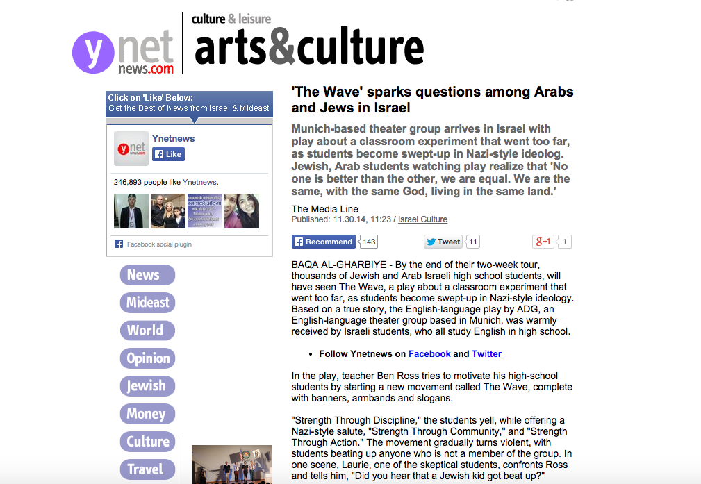 The Wave – ynetnews.com – English