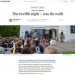 Der Nordschleswiger – The twelfth night – was ihr wollt
