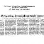 Schweinfurter Tagblatt – My Sister Syria