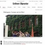 Gießener Allgemeine – Shakespeare, Tyrannen und ein Mord